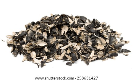 Sunflower seed husks - stock photo