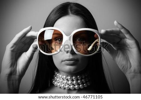 Sunglasses fashion woman - stock photo