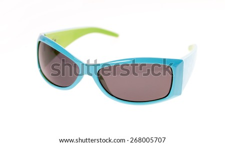 Sunglasses for Kids isolated over a white background / sunglasses - stock photo