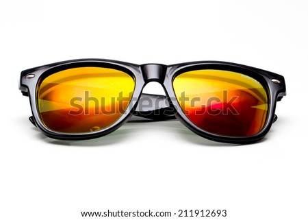 Sunglasses  Isolated on white background - stock photo