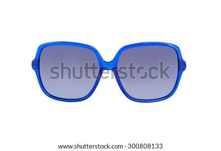 Sunglasses isolated on white background. Sunglasses on a white background with reflection and transparency - stock photo