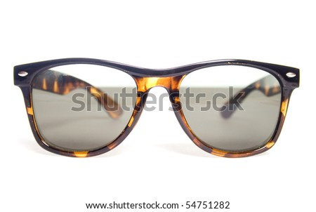 Sunglasses on a white background. - stock photo