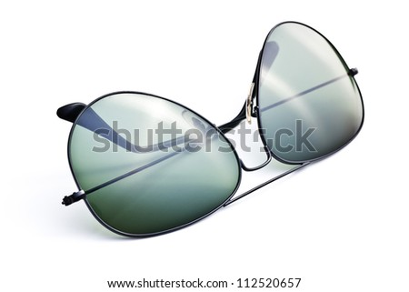 sunglasses on white background. studio shot - stock photo