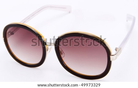 Sunglasses with plastic frame - stock photo