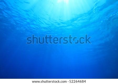 Sunlight Underwater - stock photo