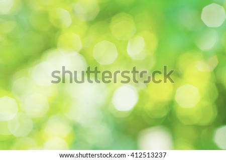 Sunny abstract green nature blurred background, eco spring concept - stock photo