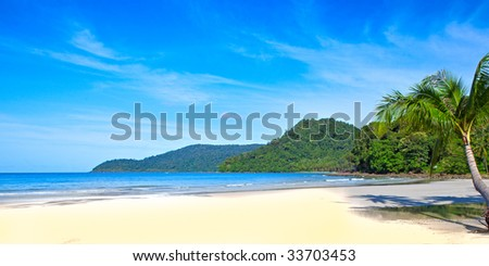 Sunny beach - stock photo