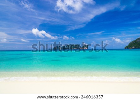 Sunny Beach Lagoon Landscape  - stock photo