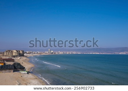 Sunny Beach South Coast - stock photo