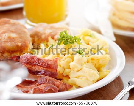 sunny breakfast - stock photo