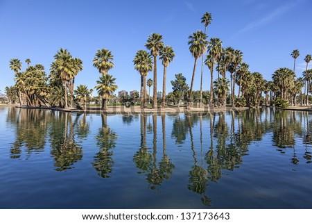Sunny Day at a City Park in Phoenix, Arizona - stock photo