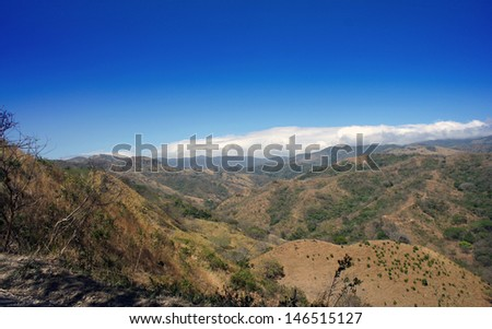 sunny day in costa ricas highlands - stock photo