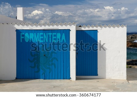 sunny day in formentera, balearic islands in spain - stock photo