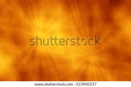 Sunny fun crazy abstract orange unusual wallpaper pattern - stock photo