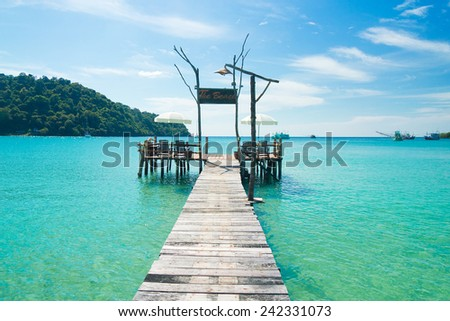Sunny Serenity Jetty to Eternity  - stock photo
