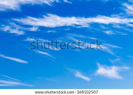 Sunny sky with clouds        - stock photo