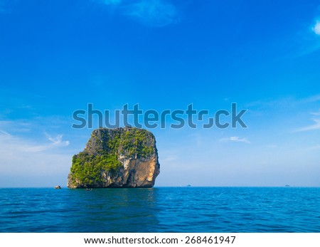 Sunny Waters Idyllic Seascape  - stock photo