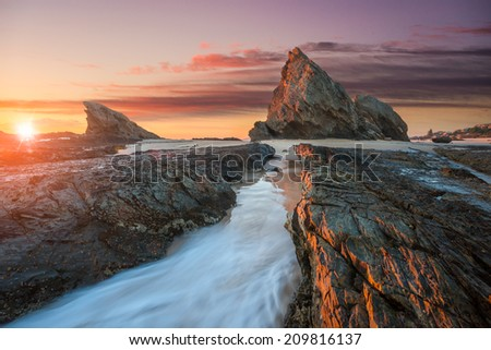 Sunrise at Elephant of in Queensland - stock photo