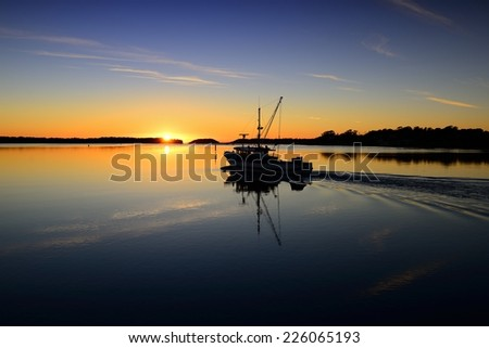 Sunrise at Greenwell Point, Australia - stock photo
