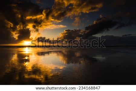 Sunrise at Mission Beach, Australia - stock photo