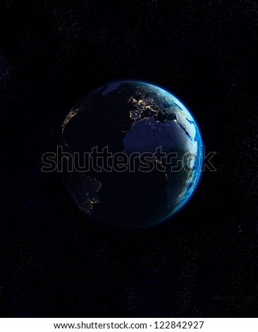 Sunrise - Elements of this image furnished by NASA - stock photo