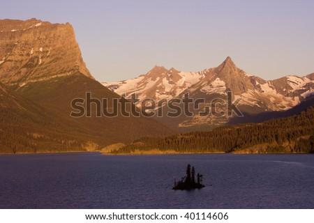 Sunrise in Glacier National Park, Montana. - stock photo