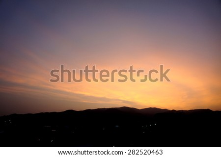Sunrise in mountain,Thailand                     - stock photo