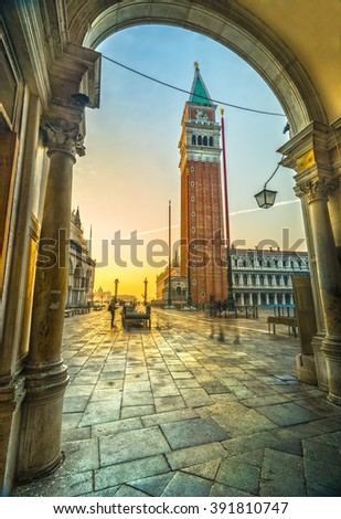 Sunrise in San Marco, Venice, Italy  - stock photo