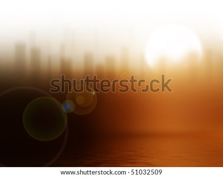 sunrise in the city - stock photo
