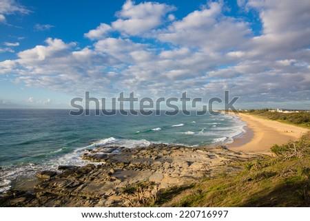 Sunrise on point Cartwright, Sunshine Coast, Queensland, Australia - stock photo