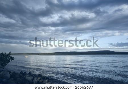 Sunrise over Green Lake, British Columbia, Canada - stock photo