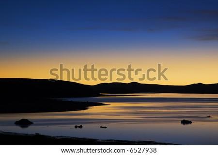 Sunrise over Mono Lake - stock photo