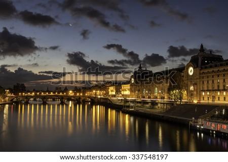 Sunrise over Orsay Museum, Paris - stock photo