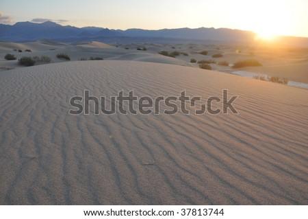 Sunrise over the Desert. - stock photo