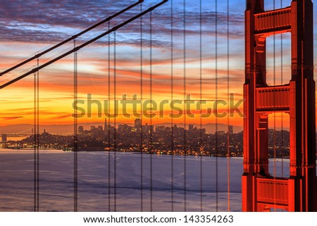 Sunrise  San Francisco - stock photo