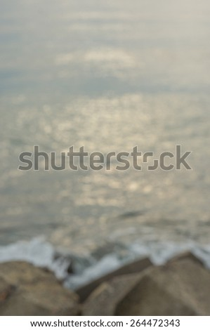 Sunrise Seascape in vintage(Soft focus, shallow DOF) - stock photo