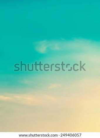 Sunrise sky background - stock photo