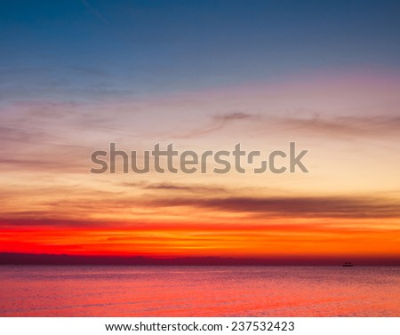 Sunrise Sky With Lighted Clouds  - stock photo