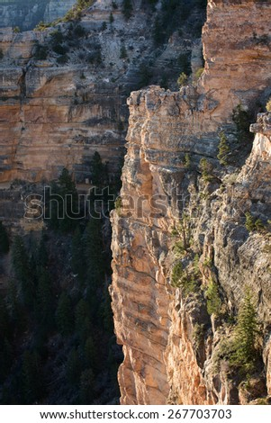 Sunrise view of the Grand Canyon from the famous Mather Point along the South Rim, Arizona landmark - stock photo