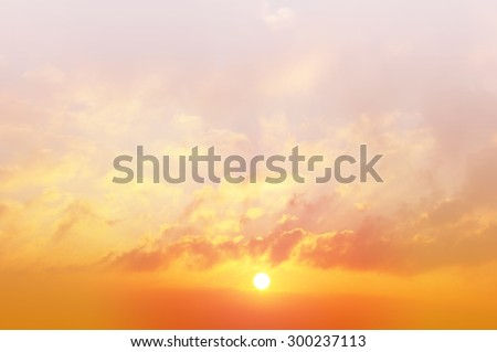 Sunrise with soft color filter background - stock photo