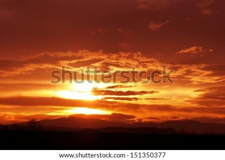 Sunset 2 - stock photo