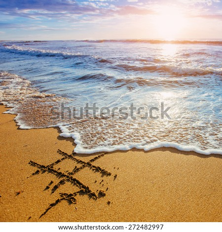 Sunset. - stock photo