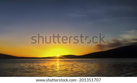 Sunset Albany Western Australia - stock photo