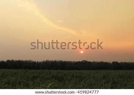 sunset and sunrise every day - stock photo