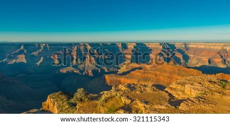 Sunset at Point Sublime, Grand Canyon National Park, AZ - stock photo
