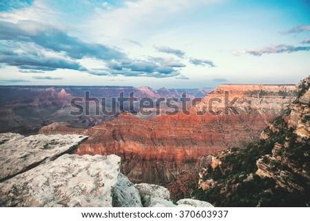 Sunset at The Grand Canyon, Arizona, USA - stock photo