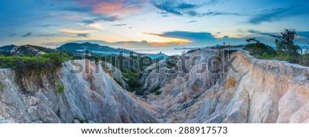 Sunset at valley  - stock photo