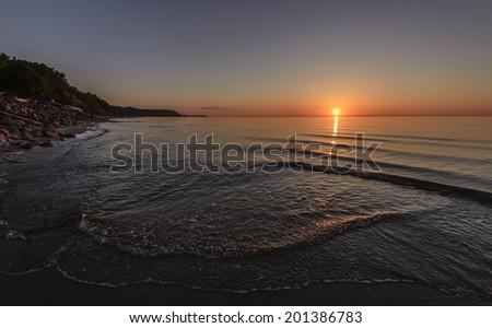 Sunset. Baltic Sea  - stock photo