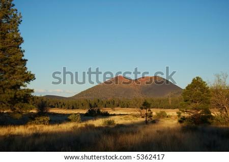 Sunset Crater near Flagstaff Arizona - stock photo