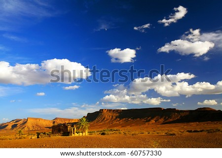Sunset in Atlas Mountains, Africa - stock photo